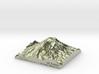"Mount Rainier Summit Map - 5"" 3d printed"