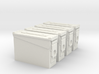 1:6 scale 30 cal ammo can box x4 3d printed
