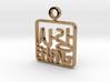 Korean Hangul Love Pendant 3d printed Korean Hangul Love Pendant