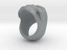 Skull Ring 3d printed Skull Ring in Polished Metallic Plastic