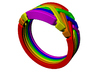 Rainbow Ring 3d printed