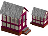 CPR John Street Gatehouse - N (1:160) Scale 3d printed Colour Rendering showing the colours of the modern structure as restored.
