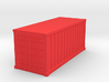 Shipping Container, Standard 20 foot (Hollow) 3d printed