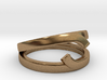 """Double Ring """"Comma"""" 3d printed"""
