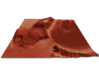 Mars Map: Lava Vent - Red 3d printed