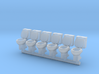 Toilet 01. HO Scale (1:87) 3d printed