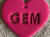 "Heart Name Tag Large (2.5"") 3d printed"