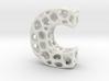 Voronoi Letter ( alphabet ) C 3d printed