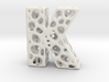 Voronoi Letter ( alphabet ) K 3d printed