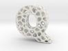 Voronoi Letter ( alphabet ) Q 3d printed