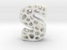 Voronoi Letter ( alphabet ) S 3d printed