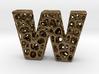 Voronoi Letter ( alphabet ) W 3d printed
