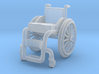 WheelChair 02. HO Scale (1:87) 3d printed