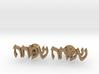 "Hebrew Name Cufflinks - ""Simcha"" 3d printed"