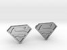 Superman Cufflinks 3d printed