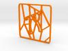 Personalised Voronoi Square Pattern Coaster (4) 3d printed Personalised Voronoi Square Pattern Coaster (4)