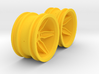 M-Chassis Wheels - Coffin Spokes - +6mm Offset 3d printed