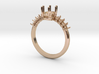Oval Set Engagment Ring size 6 3d printed
