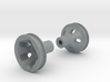 """O-Ring Style Front Wheels .50"""" (12.7mm) dia 3d printed"""