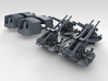 "1/350 4.7"" MKXII CPXIX Twin Mount x4 25º 3d printed 3d render showing set"