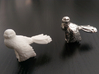 Owl Ring 3d printed White Strong and Flexible and Rhodium Plated