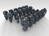 1/450 RN WW2 Searchlight Upgrade Set 3d printed 3d render showing product detail