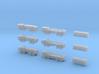 HEMTT Tanker & Cargo Truck Convoy 1/350 Scale 3d printed