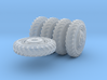 1-72 8-25x20 Early Tire Halftrack Set1 3d printed