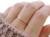 Twin Heart Ring (Multiple Sizes) 3d printed Twin Heart Ring in Polished Bronze