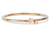 Twin Star Ring (Multiple Sizes) 3d printed Twin Star Ring in Polished Bronze