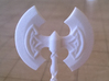 Role Playing Counter: Greataxe 3d printed Detail (Strong & Flexible Plastic, Polished White)