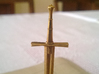 Role Playing Counter: Longsword 3d printed Detail (Raw Brass)