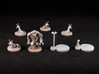 M&M minis - White plastic (7 pcs) - Mice & Mystics 3d printed White plastic, spray-primed in brown then  pre-shaded with white spray