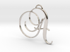 Elegant Script Monogram A Pendant Charm 3d printed