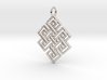 Endless Knot Religious Pendant Charm 3d printed
