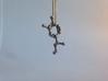 Adrenaline Molecule Necklace Keychain 3d printed Adrenaline molecule in Stainless Steel