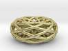 Sacred Geometric Vortex Pendant (6 loop) 3d printed