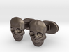 Skull face cufflinks 3d printed