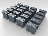 1/144 Scale 20mm Oerlikon Ready Use Lockers x20 3d printed 3d render showing product detail