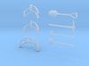 M113 Antenna Guards and Tools 1:30 scale 3d printed