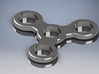 Basic 3 Section Spinner 3d printed material: steel polished