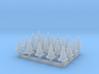 N Scale 20 Traffic Cones 3d printed