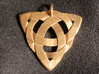 Celtic Knot Necklace Pendant (Inverted Triquetra) 3d printed Note: pendant ring has been modified  after printing this prototype.