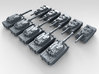 1/700 Scale Modern Italian Army Tank Set 2 3d printed 3d render showing product detail