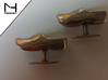 Wooden Shoe Cufflink / Klomp manchetknoop 3d printed Stainless Steel