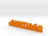 SANTIAGO Keychain Lucky 3d printed