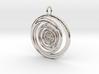Abstract Vortex Swirl Pendant Charm 3d printed