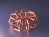 Hexagonal Torus (Wireframe) 3d printed Render from within Blender
