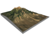 """Humphreys Peak Map: 8""""x10"""" 3d printed"""
