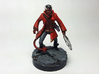 Tiefling Warlock 3d printed Painted with acrylic paints on a custom 1 inch base.